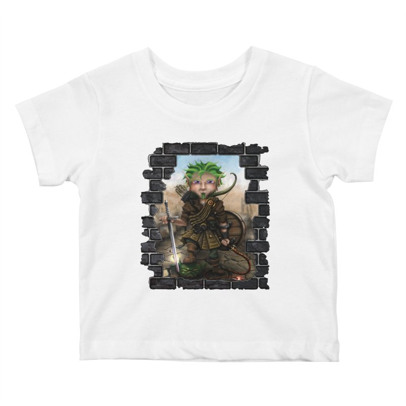 Folkor the Gnome Bard Kids Baby T-Shirt by Mythic Ink's Shop