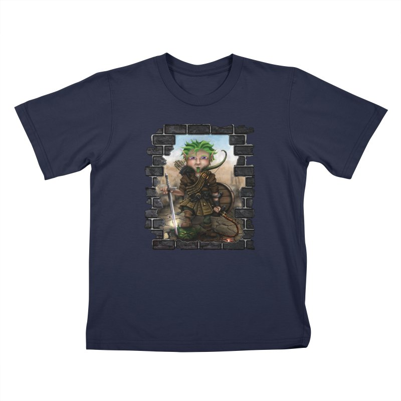 Folkor the Gnome Bard Kids T-Shirt by Mythic Ink's Shop