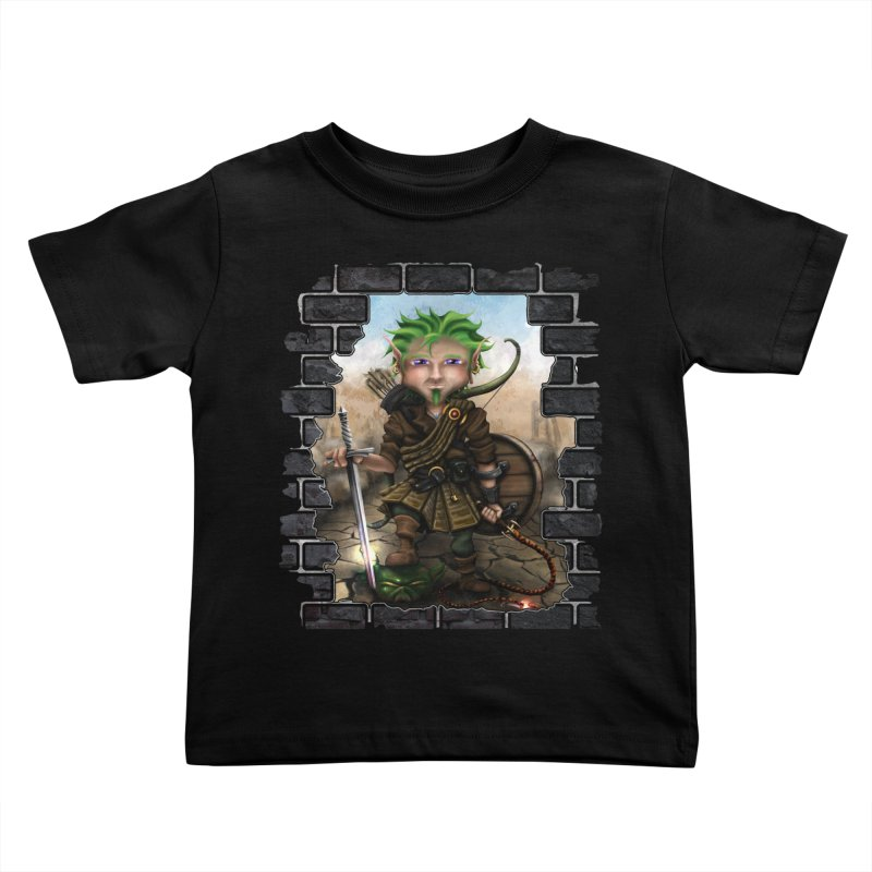 Folkor the Gnome Bard Kids Toddler T-Shirt by Mythic Ink's Shop