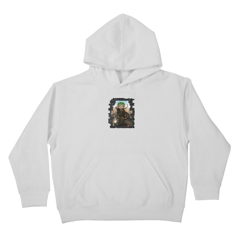 Folkor the Gnome Bard Kids Pullover Hoody by Mythic Ink's Shop