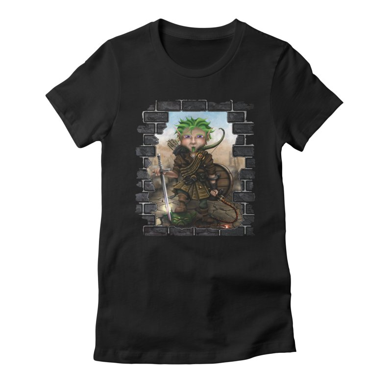 Folkor the Gnome Bard Women's Fitted T-Shirt by Mythic Ink's Shop