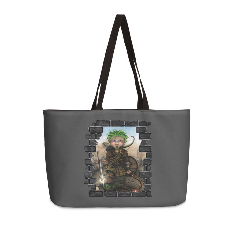 Folkor the Gnome Bard Accessories Weekender Bag Bag by Mythic Ink's Shop