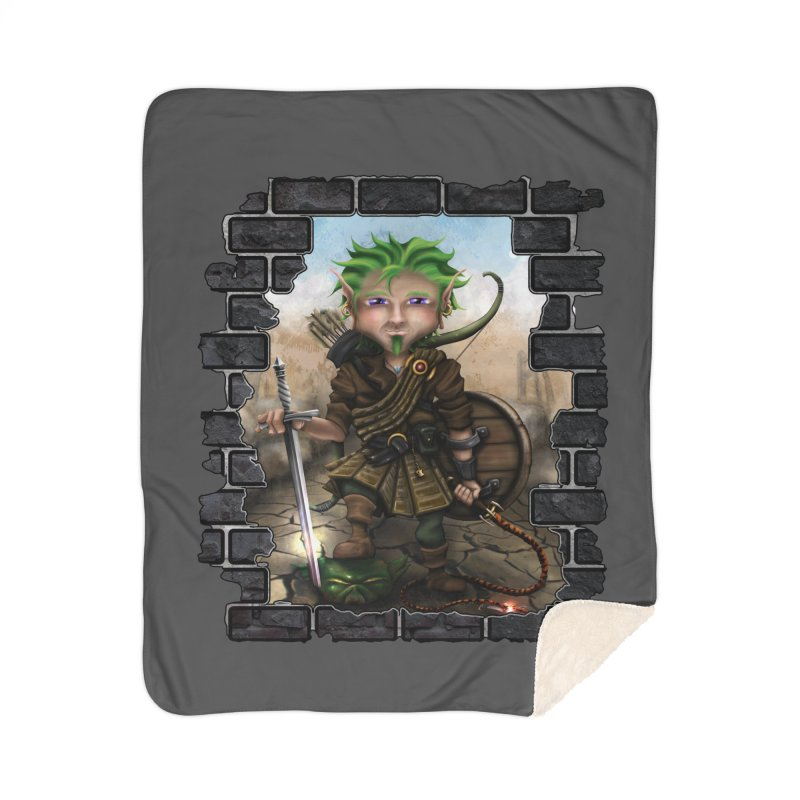 Folkor the Gnome Bard Home Blanket by Mythic Ink's Shop