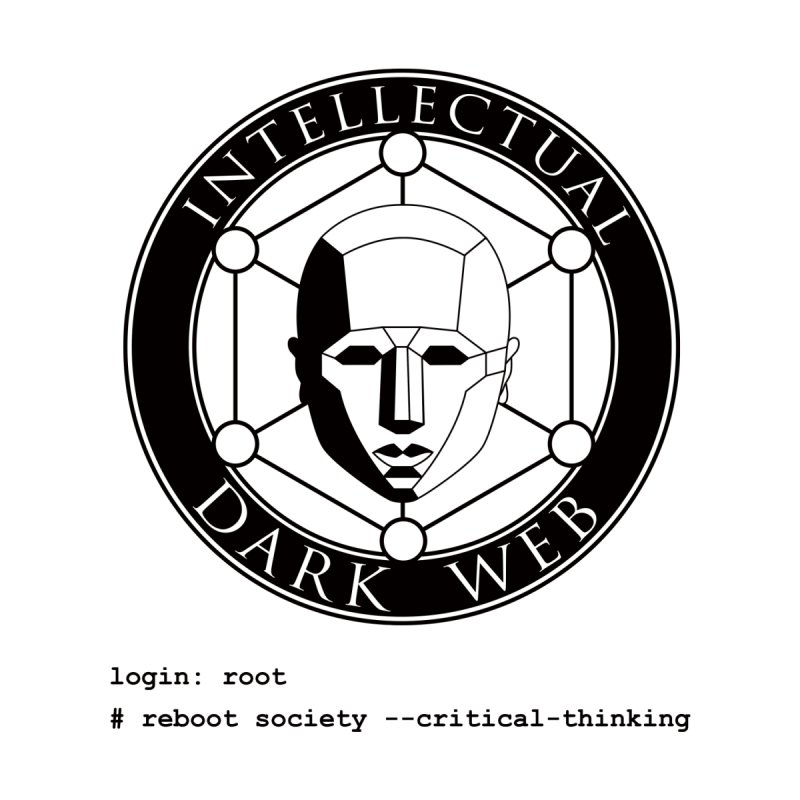 Intellectual Dark Web - Unix Reboot (white background) Women's V-Neck by Mythic Ink's Shop