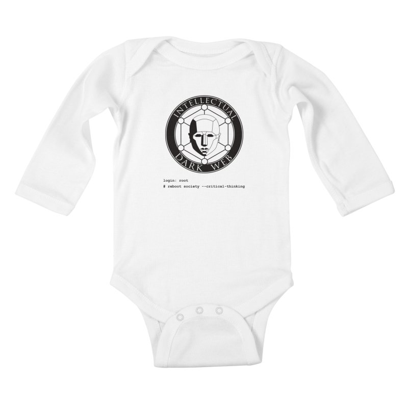 Intellectual Dark Web - Unix Reboot (white background) Kids Baby Longsleeve Bodysuit by Mythic Ink's Shop