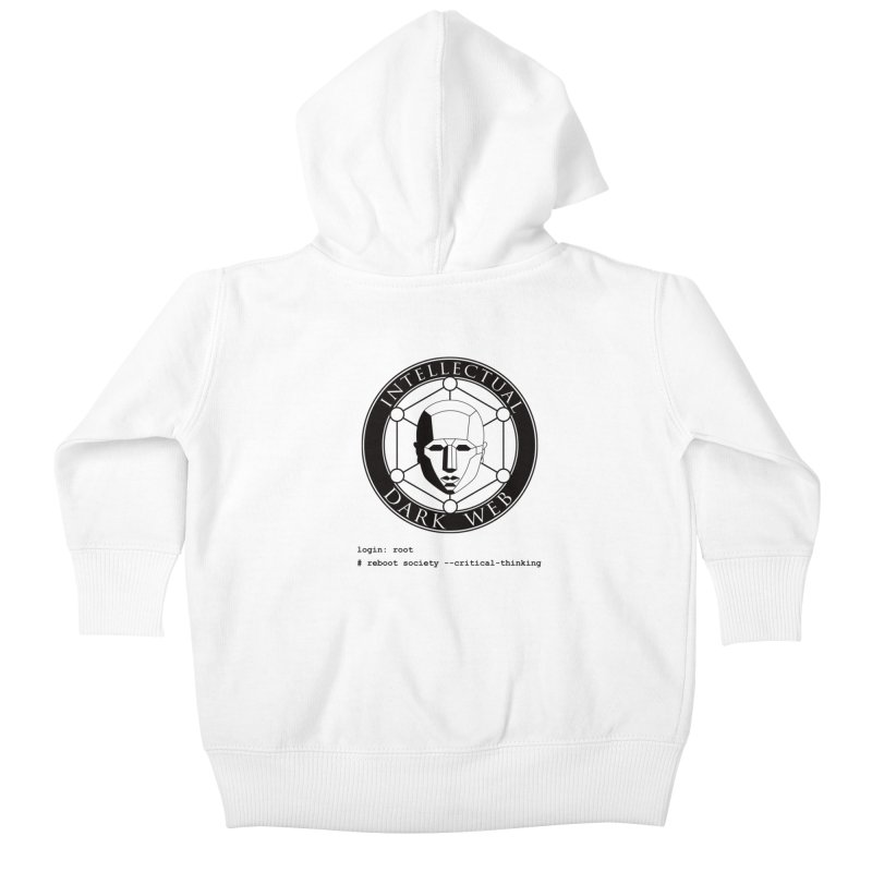 Intellectual Dark Web - Unix Reboot (white background) Kids Baby Zip-Up Hoody by Mythic Ink's Shop