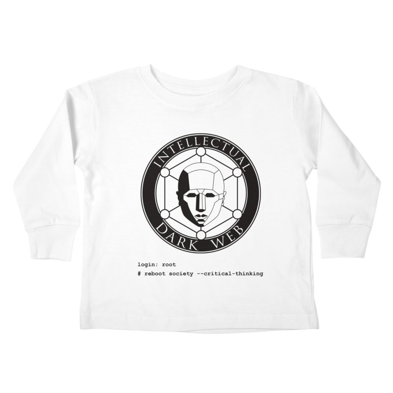 Intellectual Dark Web - Unix Reboot (white background) Kids Toddler Longsleeve T-Shirt by Mythic Ink's Shop