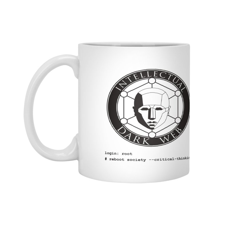 Intellectual Dark Web - Unix Reboot (white background) Accessories Mug by Mythic Ink's Shop