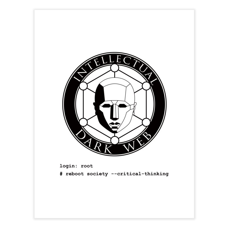 Intellectual Dark Web - Unix Reboot (white background) Home Fine Art Print by Mythic Ink's Shop