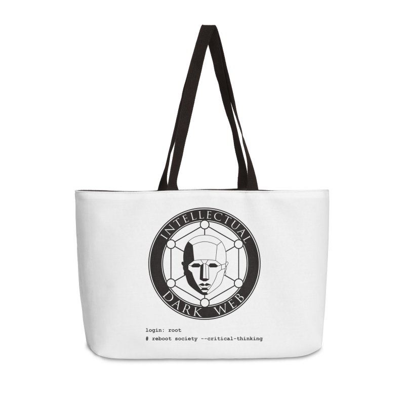 Intellectual Dark Web - Unix Reboot (white background) Accessories Weekender Bag Bag by Mythic Ink's Shop