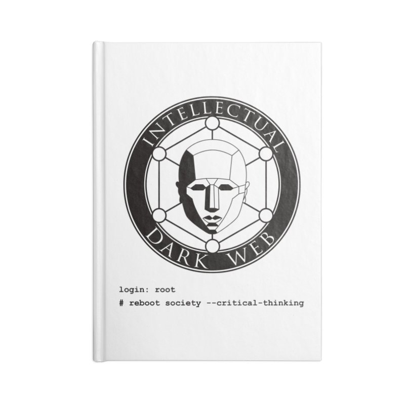 Intellectual Dark Web - Unix Reboot (white background) Accessories Blank Journal Notebook by Mythic Ink's Shop