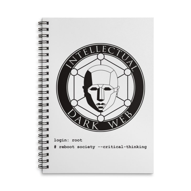 Intellectual Dark Web - Unix Reboot (white background) Accessories Lined Spiral Notebook by Mythic Ink's Shop