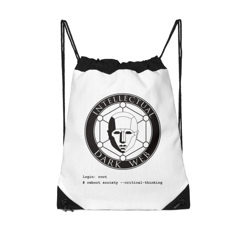 Intellectual Dark Web - Unix Reboot (white background) Accessories Drawstring Bag Bag by Mythic Ink's Shop