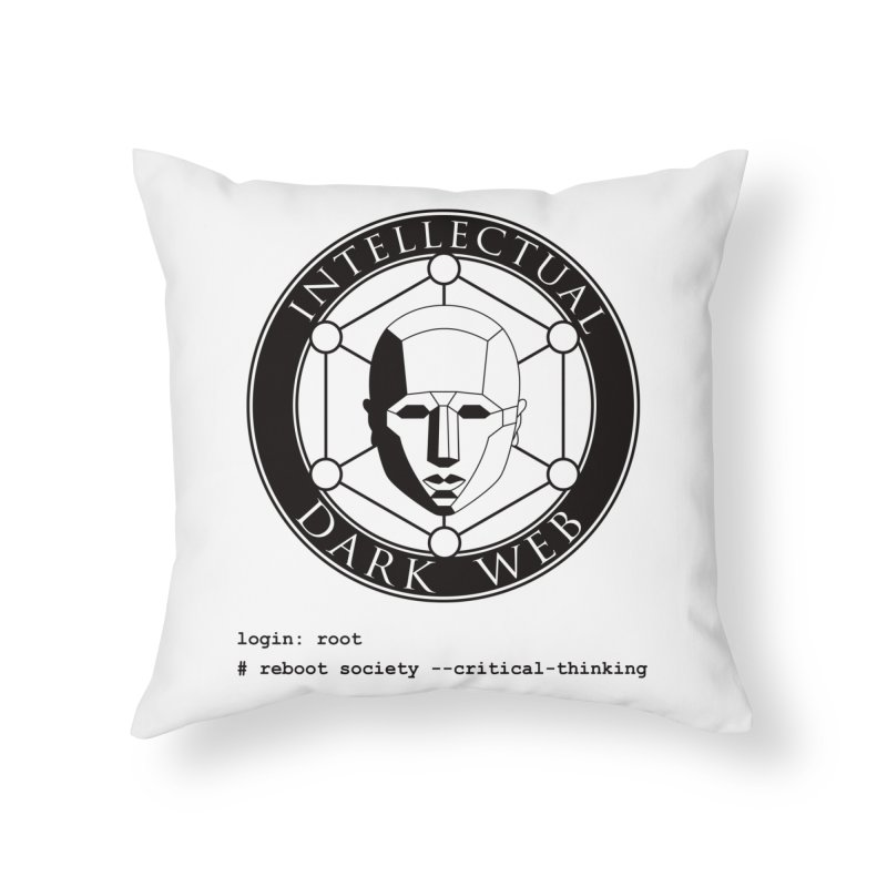 Intellectual Dark Web - Unix Reboot (white background) Home Throw Pillow by Mythic Ink's Shop