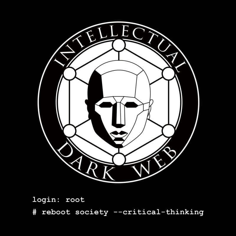 Intellectual Dark Web - Unix Reboot (black background) Women's V-Neck by Mythic Ink's Shop