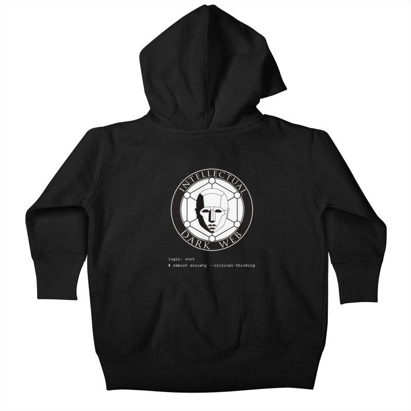 Intellectual Dark Web - Unix Reboot (black background) Kids Baby Zip-Up Hoody by Mythic Ink's Shop
