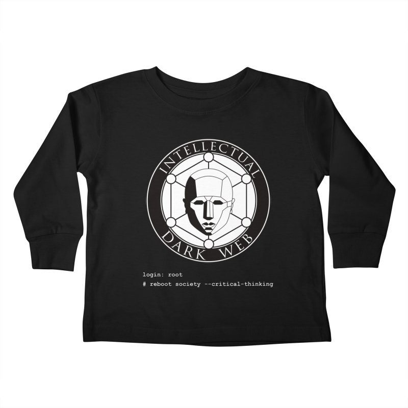 Intellectual Dark Web - Unix Reboot (black background) Kids Toddler Longsleeve T-Shirt by Mythic Ink's Shop