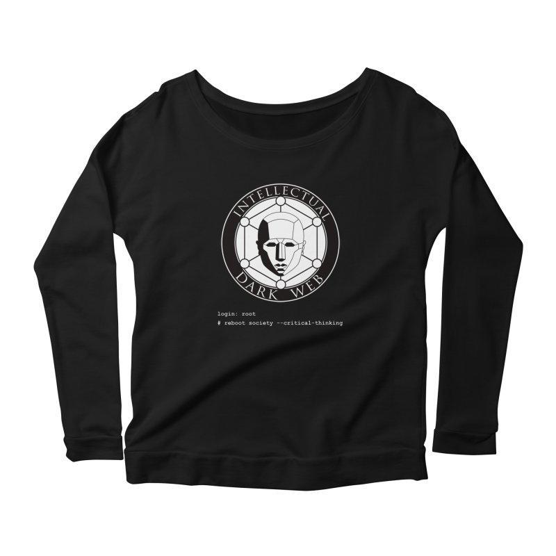 Intellectual Dark Web - Unix Reboot (black background) Women's Longsleeve T-Shirt by Mythic Ink's Shop