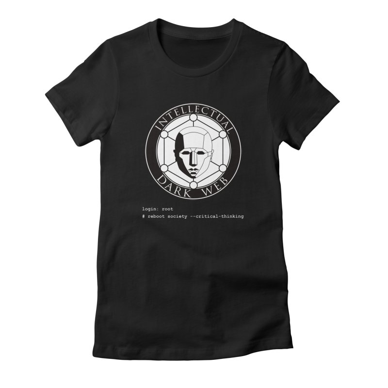 Intellectual Dark Web - Unix Reboot (black background) Women's T-Shirt by Mythic Ink's Shop