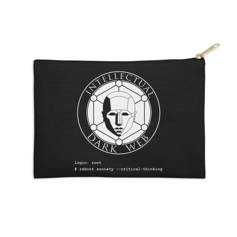 Intellectual Dark Web - Unix Reboot (black background) Accessories Zip Pouch by Mythic Ink's Shop