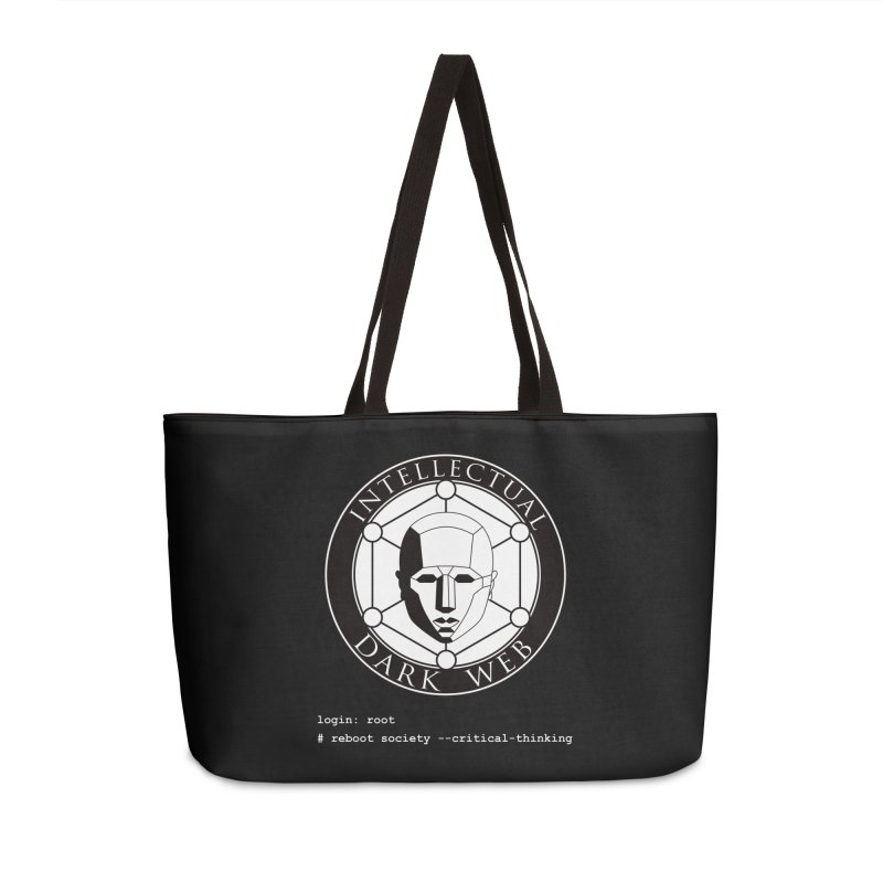 Intellectual Dark Web - Unix Reboot (black background) Accessories Weekender Bag Bag by Mythic Ink's Shop
