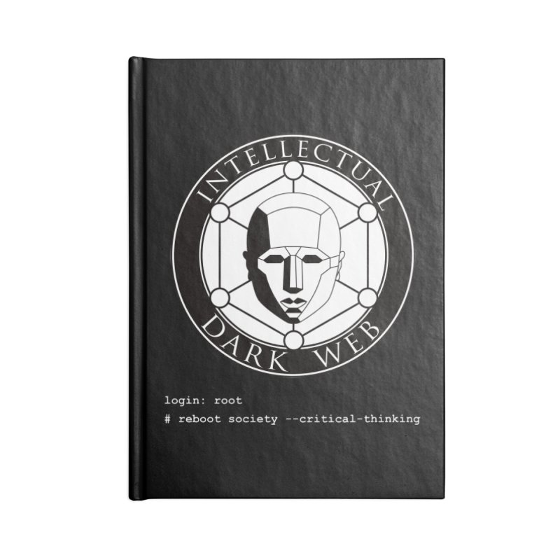 Intellectual Dark Web - Unix Reboot (black background) Accessories Blank Journal Notebook by Mythic Ink's Shop
