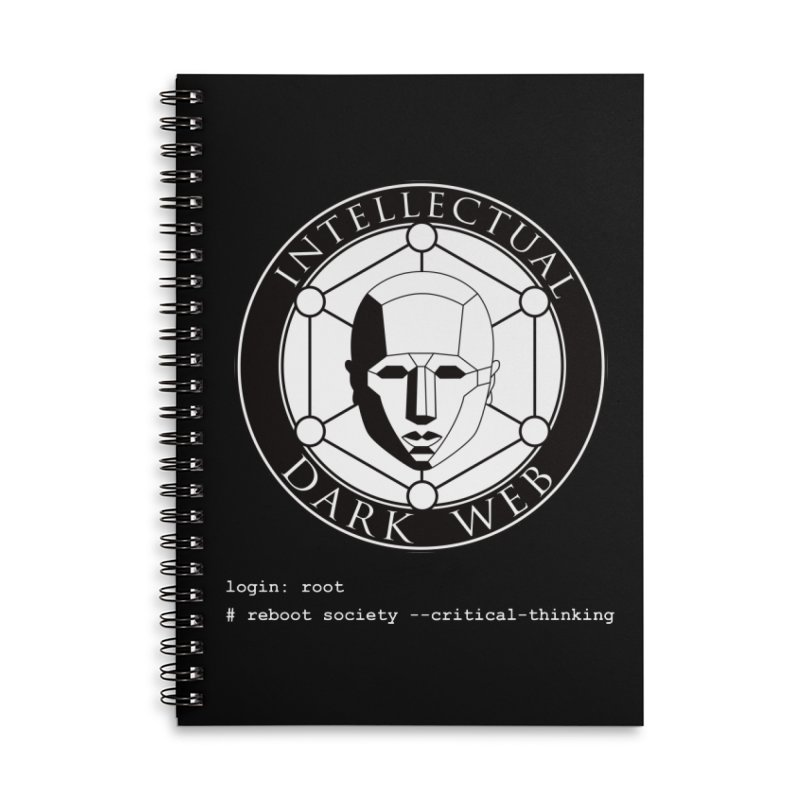 Intellectual Dark Web - Unix Reboot (black background) Accessories Lined Spiral Notebook by Mythic Ink's Shop