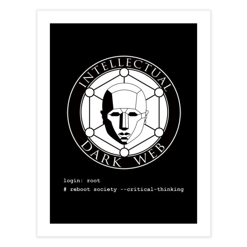 Intellectual Dark Web - Unix Reboot (black background) Home Fine Art Print by Mythic Ink's Shop