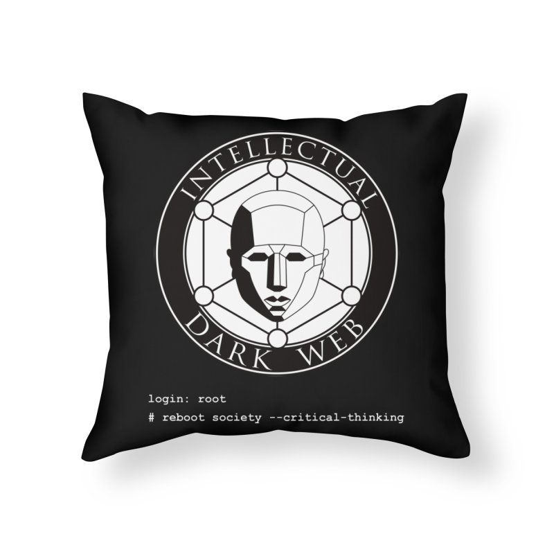Intellectual Dark Web - Unix Reboot (black background) Home Throw Pillow by Mythic Ink's Shop