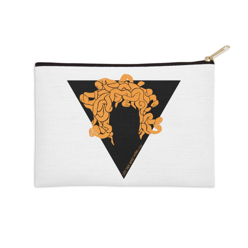 Medusa Accessories Zip Pouch by Let's Talk About Myths, Baby! Merch Shop