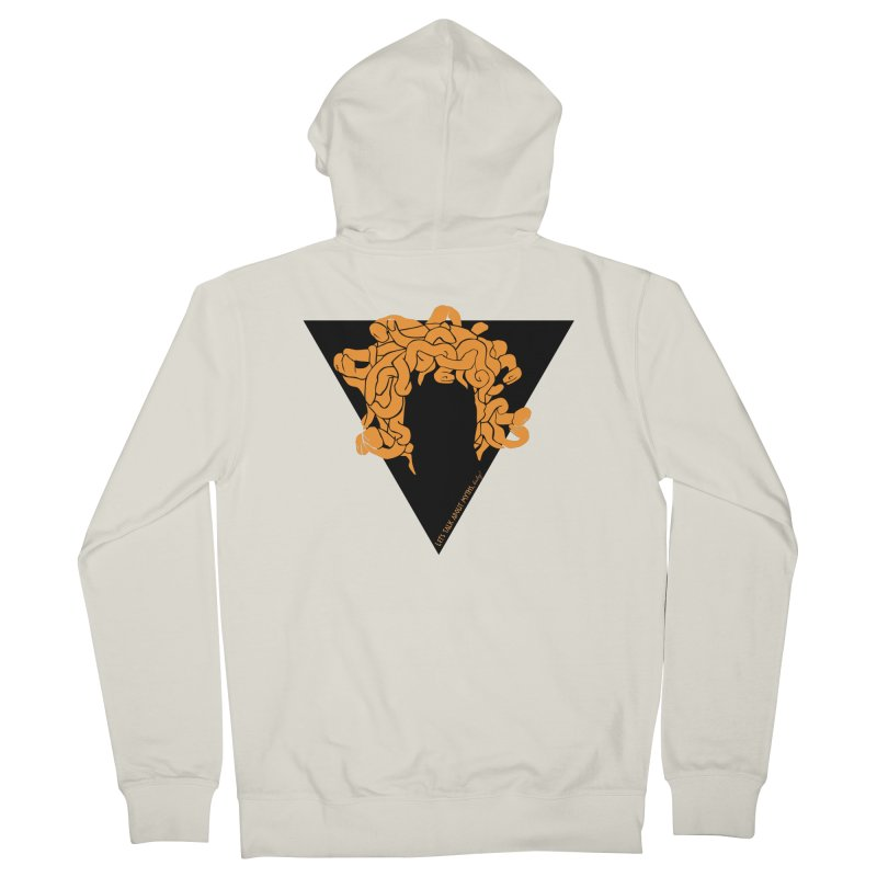 Medusa Men's Zip-Up Hoody by Let's Talk About Myths, Baby! Merch Shop
