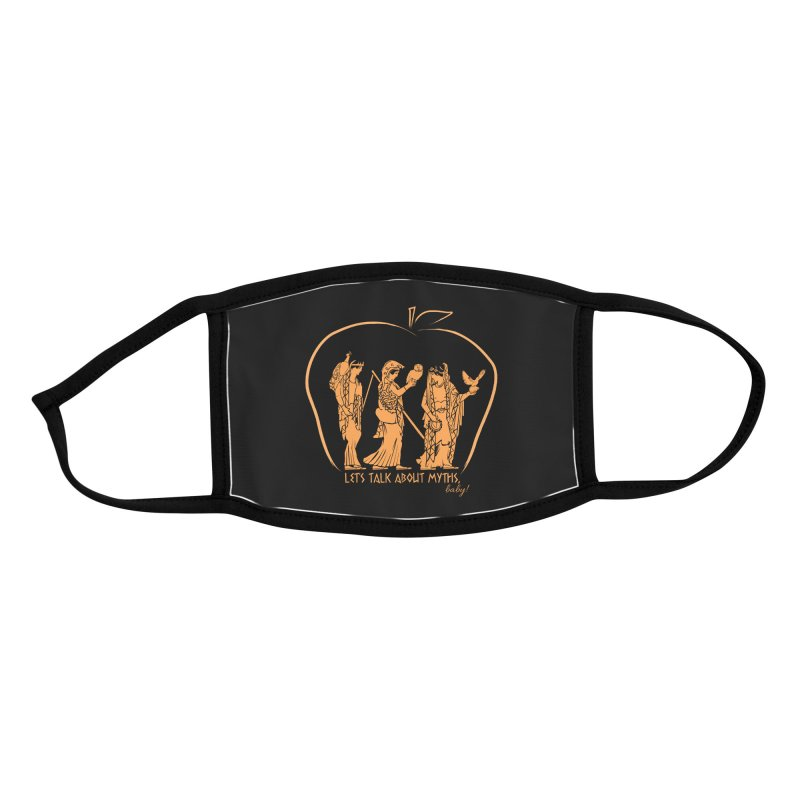 Judgement of Paris (on black) Accessories Face Mask by Let's Talk About Myths, Baby! Merch Shop