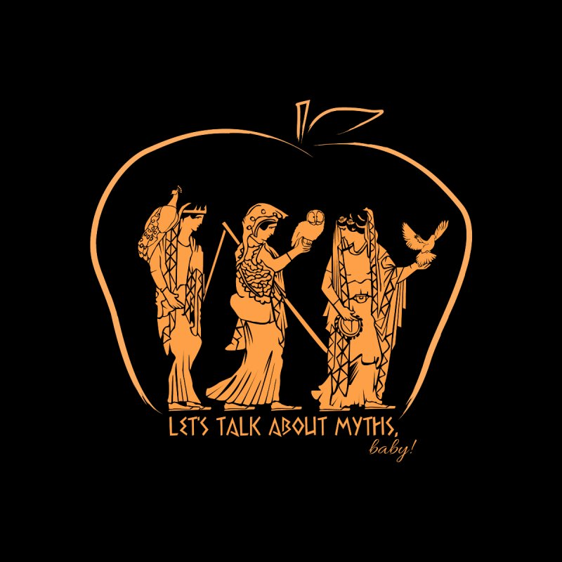 Judgement of Paris (on black) Accessories Notebook by Let's Talk About Myths, Baby! Merch Shop