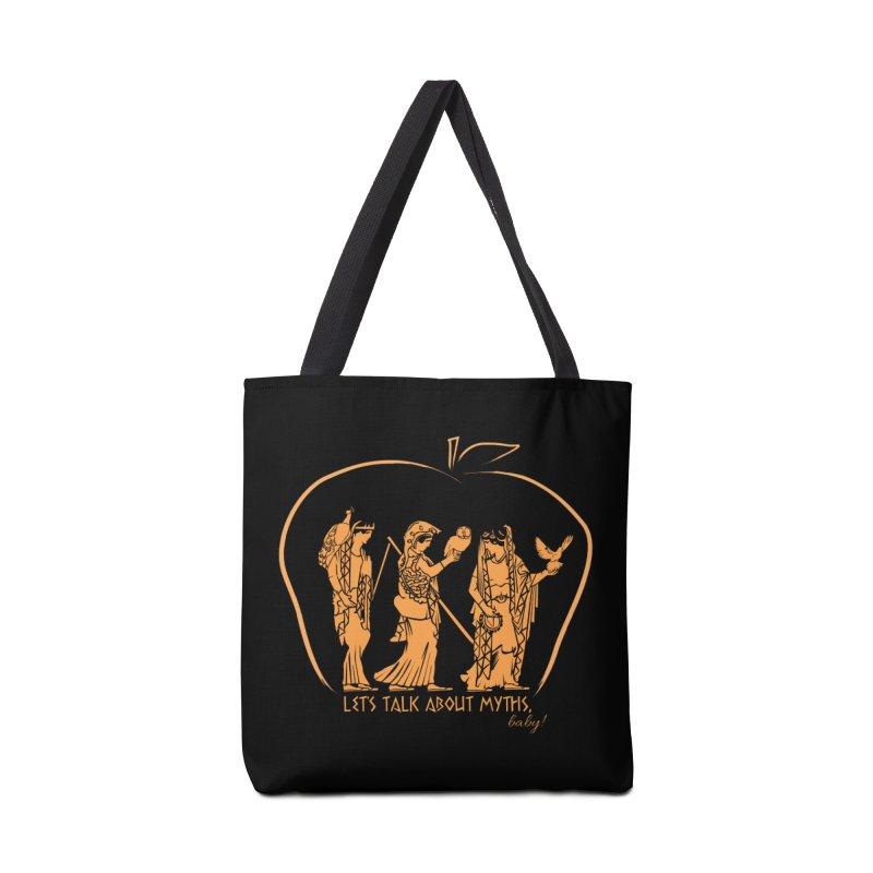 Judgement of Paris (on black) Accessories Bag by Let's Talk About Myths, Baby! Merch Shop