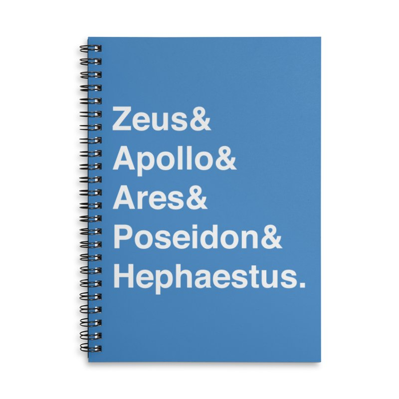 Helvetica Gods (White Text) Accessories Lined Spiral Notebook by Myths Baby's Artist Shop