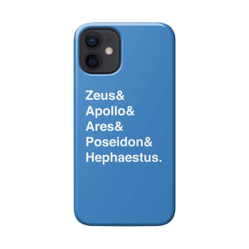 Helvetica Gods (White Text) Accessories Phone Case by Let's Talk About Myths, Baby! Merch Shop