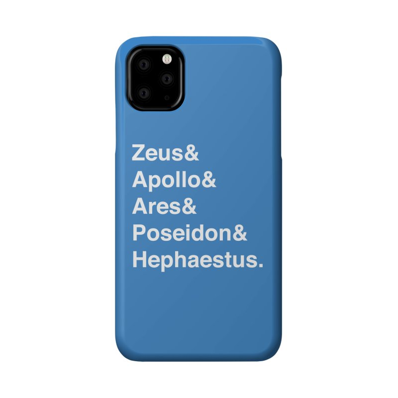 Helvetica Gods (White Text) Accessories Phone Case by Myths Baby's Artist Shop