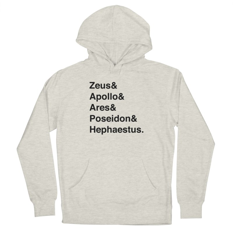 Helvetica Gods (Black Text) Men's Pullover Hoody by Let's Talk About Myths, Baby! Merch Shop