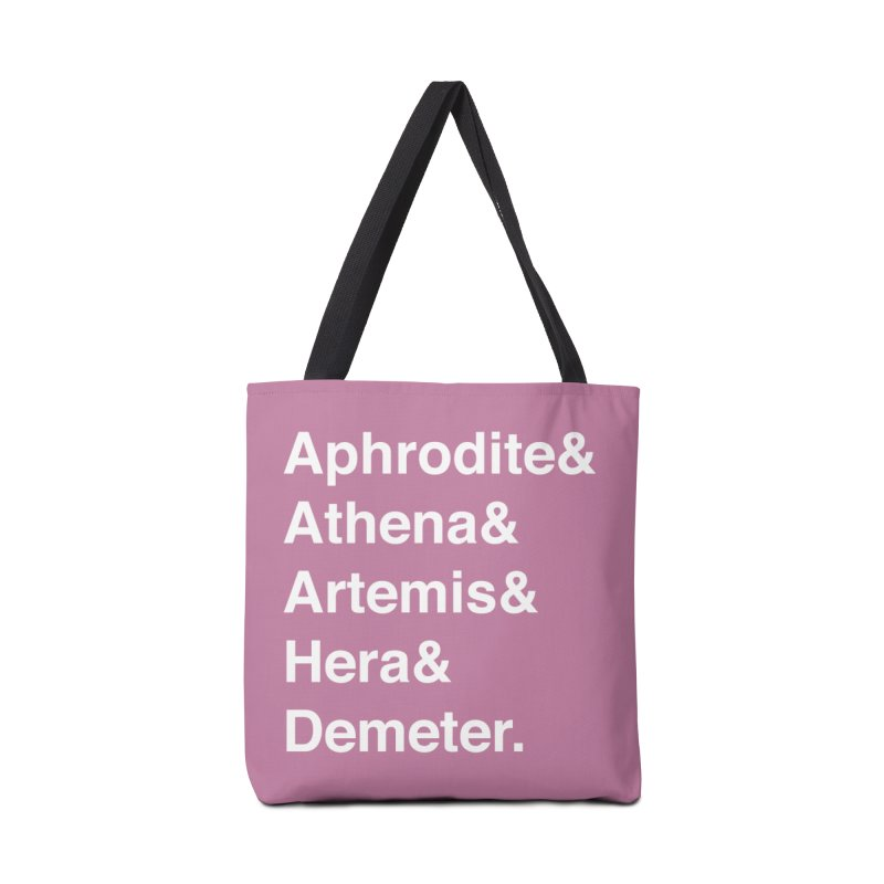 Helvetica Goddesses (White Text) Accessories Bag by Let's Talk About Myths, Baby! Merch Shop