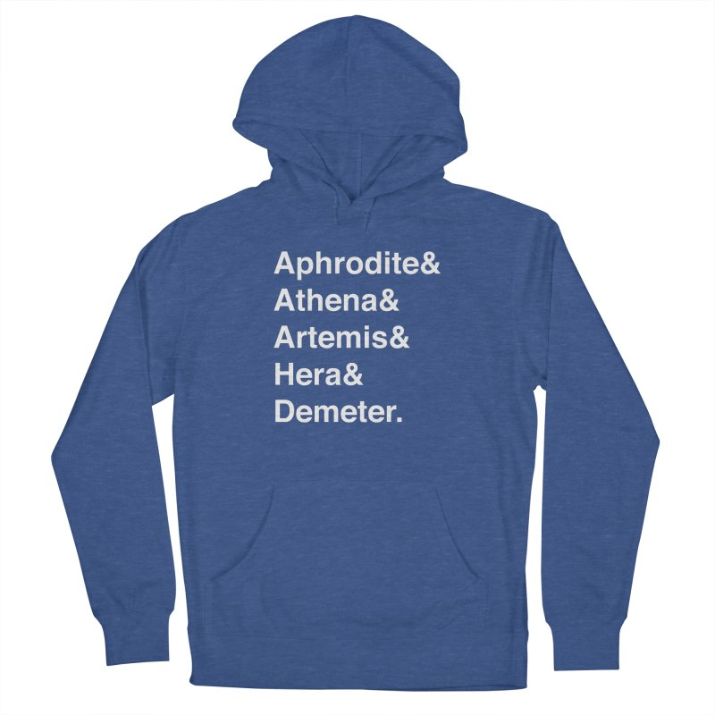 Helvetica Goddesses (White Text) Women's Pullover Hoody by Let's Talk About Myths, Baby! Merch Shop