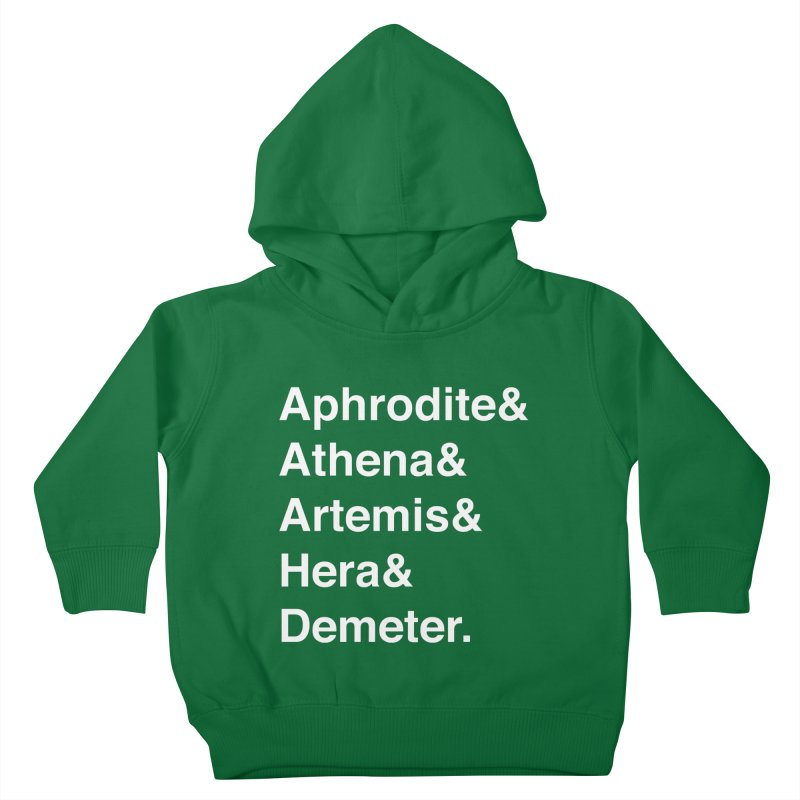 Helvetica Goddesses (White Text) Kids Toddler Pullover Hoody by Myths Baby's Artist Shop