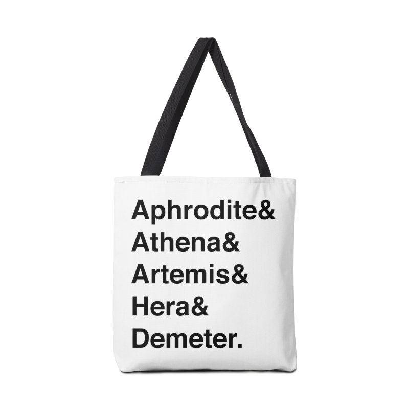 Helvetica Goddesses (Black Text) Accessories Bag by Let's Talk About Myths, Baby! Merch Shop