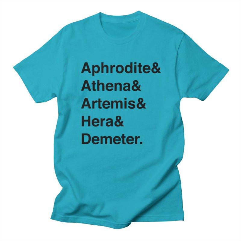Helvetica Goddesses (Black Text) Men's T-Shirt by Myths Baby's Artist Shop