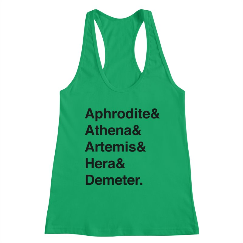Helvetica Goddesses (Black Text) Women's Tank by Let's Talk About Myths, Baby! Merch Shop