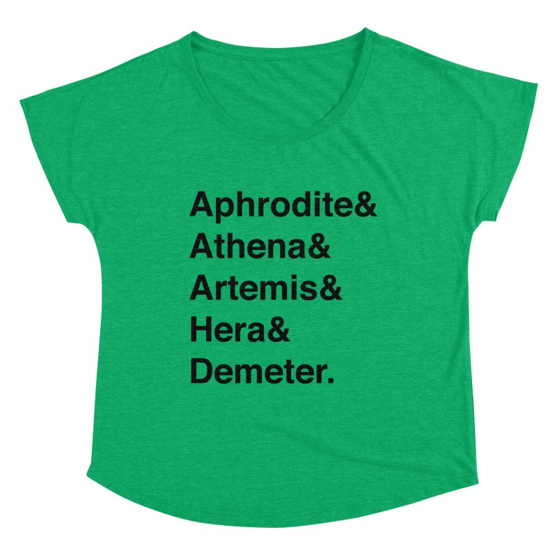 Helvetica Goddesses (Black Text) Women's Scoop Neck by Let's Talk About Myths, Baby! Merch Shop