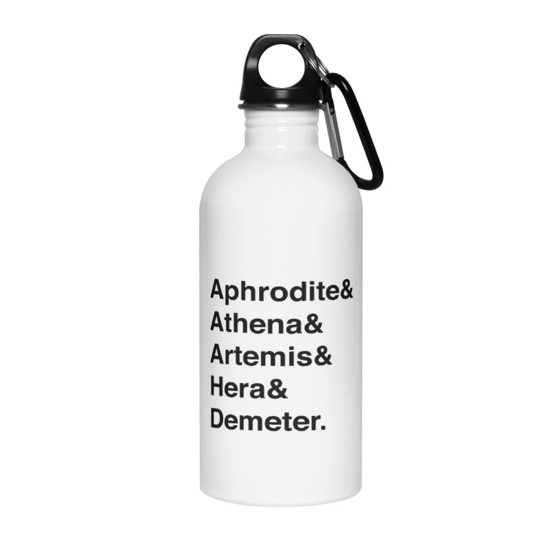 Helvetica Goddesses (Black Text) Accessories Water Bottle by Myths Baby's Artist Shop