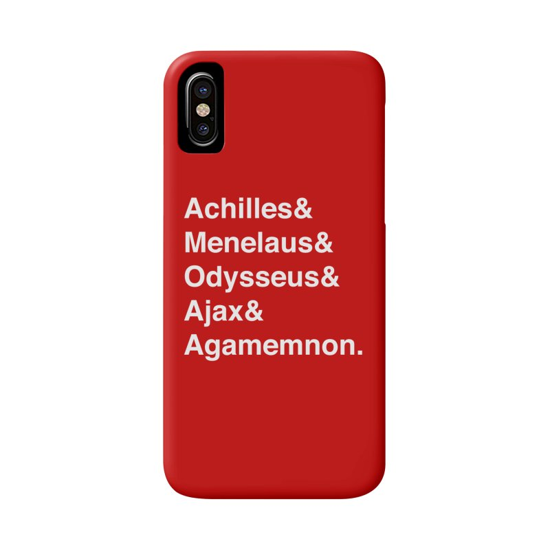 Helvetica Heroes of the Trojan War (White Text) Accessories Phone Case by Let's Talk About Myths, Baby! Merch Shop