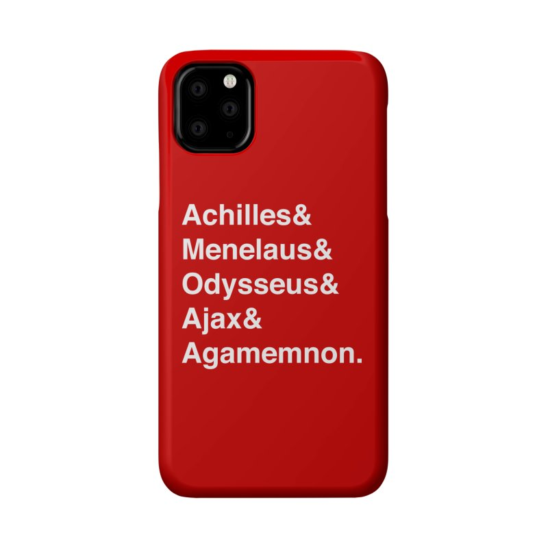 Helvetica Heroes of the Trojan War (White Text) Accessories Phone Case by Myths Baby's Artist Shop