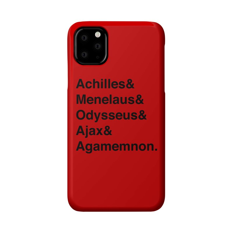 Helvetica Heroes of the Trojan War (Black Text) Accessories Phone Case by Myths Baby's Artist Shop