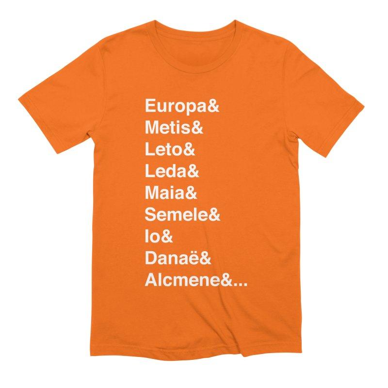 Helvetica Greek Survivors (White Text) Men's Extra Soft T-Shirt by Myths Baby's Artist Shop